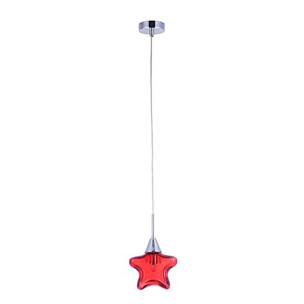 Подвесной светильник цвет хром/красный [Фото №2]