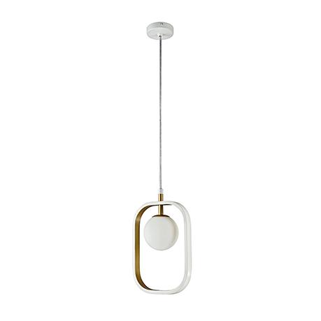Подвесной светильник цвет белый с золотом [Фото №2]