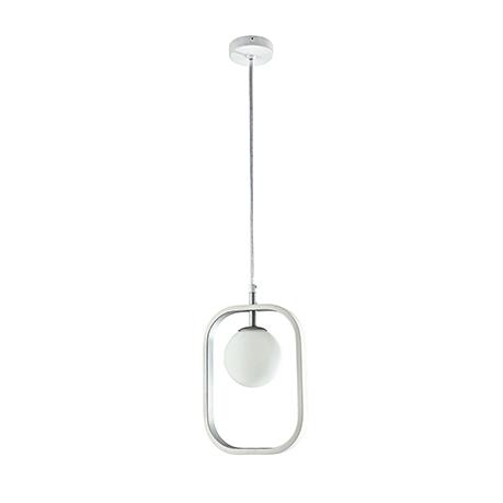 Подвесной светильник цвет белый с серебром [Фото №2]