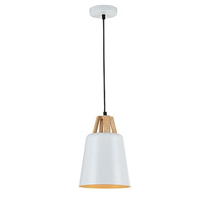 Подвесной светильник из металла (цвет белый)