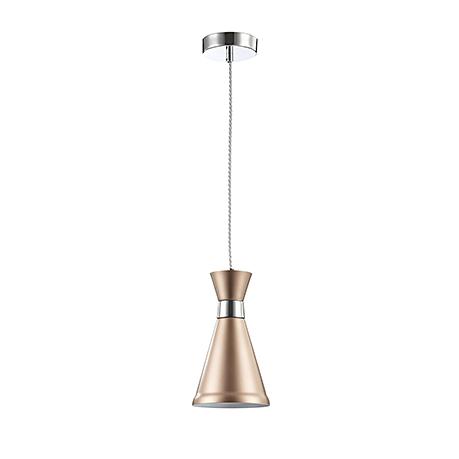 Подвесной светильник золотой конус и хром (135 мм)