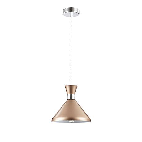 Подвесной светильник золотой конус и хром (225 мм)