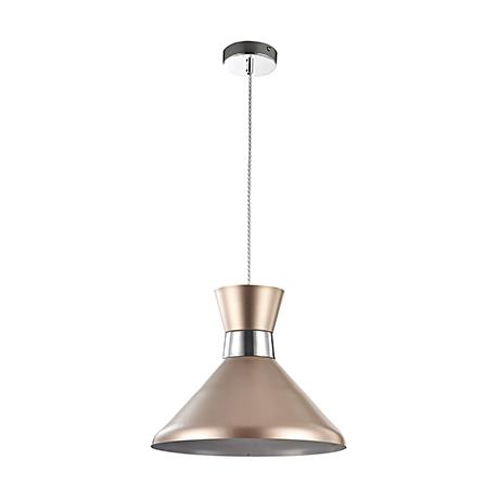 Подвесной светильник золотой конус и хром (335 мм)