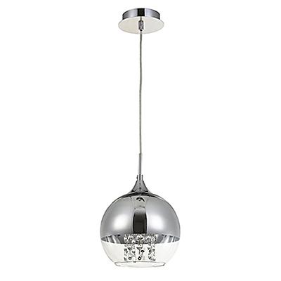 Подвесной светильник шар 20 см. (никель)