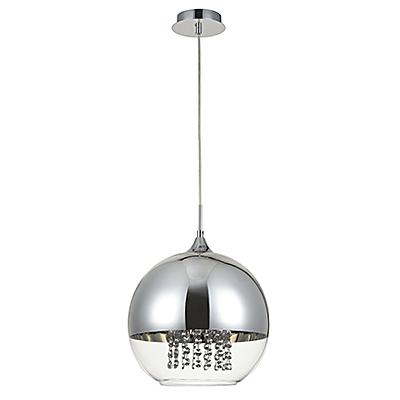 Подвесной светильник шар 30 см. (никель)