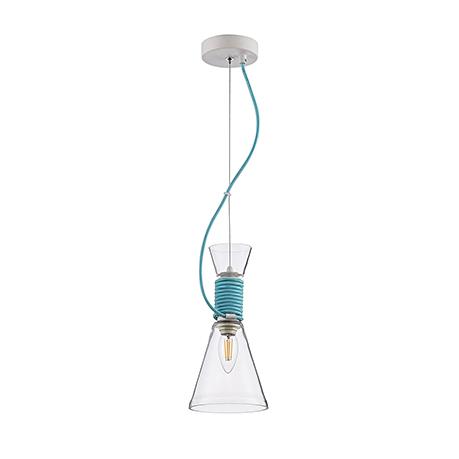 Подвесной светильник цвет голубой [Фото №2]