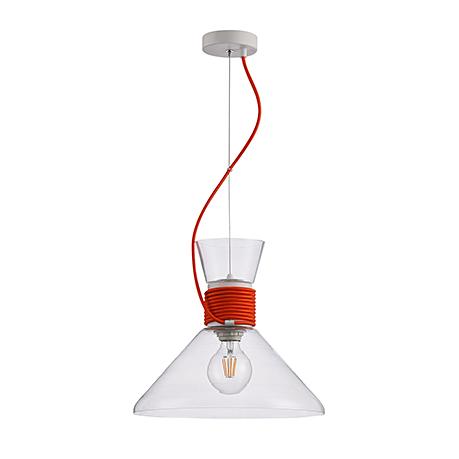 Подвесной светильник цвет красный [Фото №2]