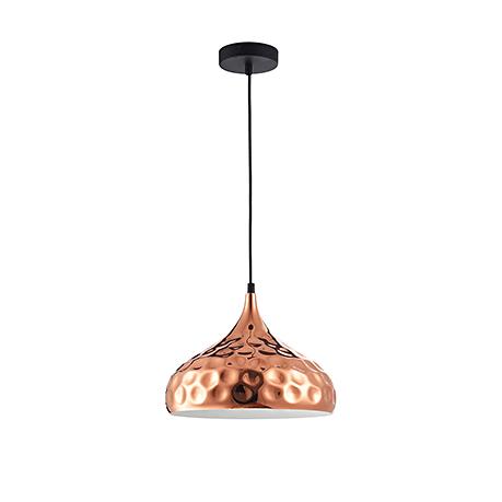 Подвесной светильник-плафон под полированную медь в стиле ар-деко (цвет черный)