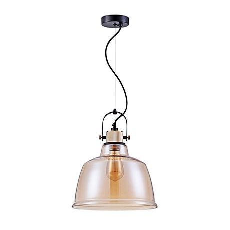 Подвесной светильник цвет янтарный [Фото №2]