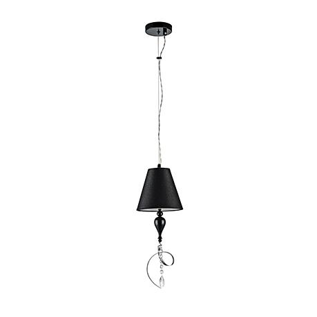 Elegant Intreccio 1: Подвесной светильник с абажуром и лентой (цвет черный и серебро)