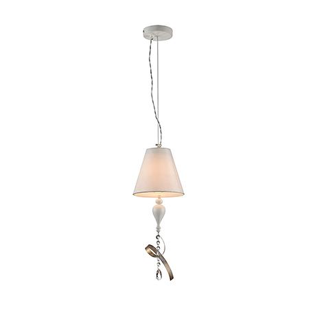Подвесной светильник с абажуром и лентой (цвет белый с золотом)