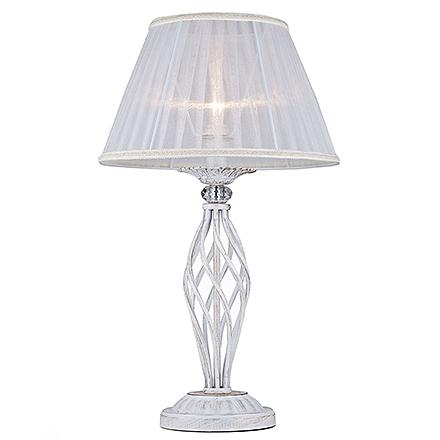 Elegant Grace 1: Классическая настольная лампа белая с золотом