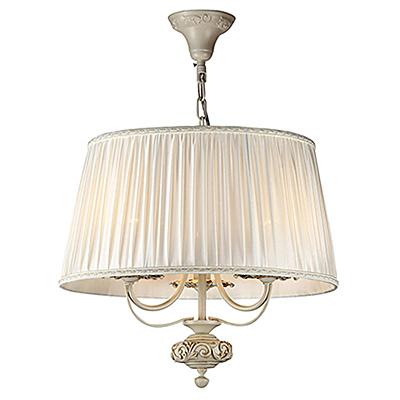Подвесной абажур с люстрой на 3 лампы (цвет слоновая кость)