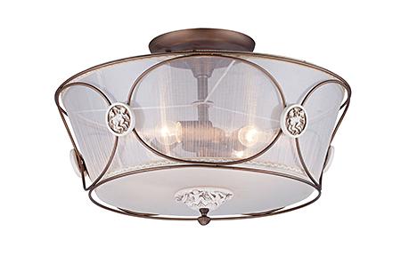 Elegant Letizia 4: Потолочный светильник абажур из органзы диаметром 54 см. (бронза)