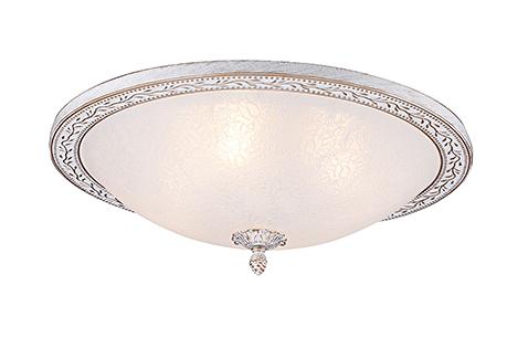 Ceiling & Wall Aritos 4: Круглый потолочный светильник-плафон с ободом (цвет белый с золотом)
