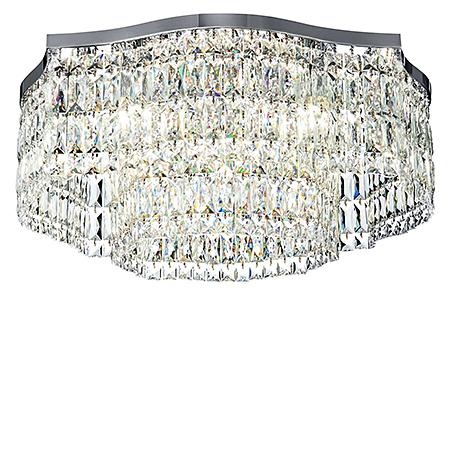 Diamant Crystal Dune 10: Потолочная хрустальная люстра с призмами диаметр 60 см. (хром)