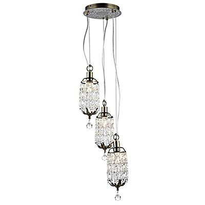Подвесной каскадный светильник на 3 лампы (бронза)