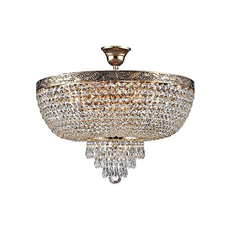 Diamant Crystal Palace 6: Классическая хрустальная люстра на 6 ламп (античное золото)