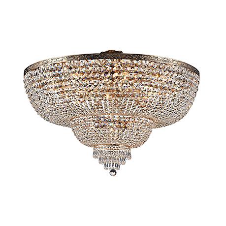 Diamant Crystal Palace 18: Классическая потолочная хрустальная люстра диаметр 100 см. (античное золото)