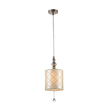 Подвесной светильник в стиле ар-деко (античное серебро)