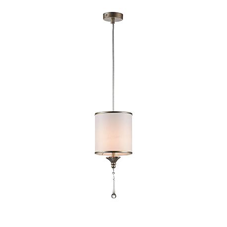 Подвесной светильник-абажур стиль ар-деко (античное золото и белый)