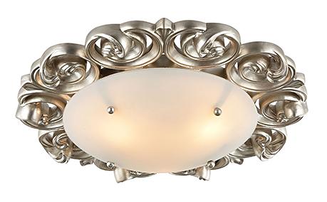 House Lantana 3: Потолочный светильник в стиле ар-деко (золото и белый)