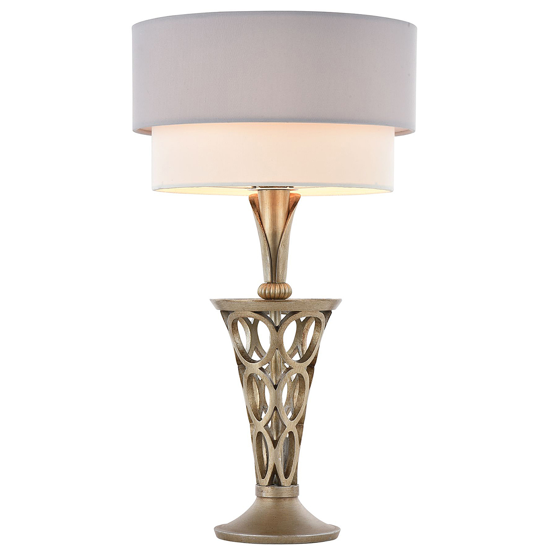 Настольная лампа в стиле модерн (античное серебро, белый, серый)