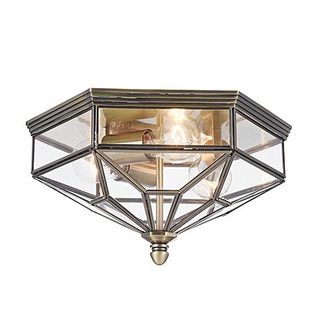 House Zeil 3: Уличный потолочный светильник с защитой от дождя (бронза)