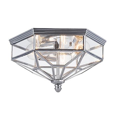House Zeil 3: Уличный потолочный светильник с защитой от дождя (хром)