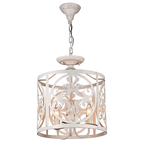 Подвесной абажур из металла на 3 лампы (цвет кремовый)