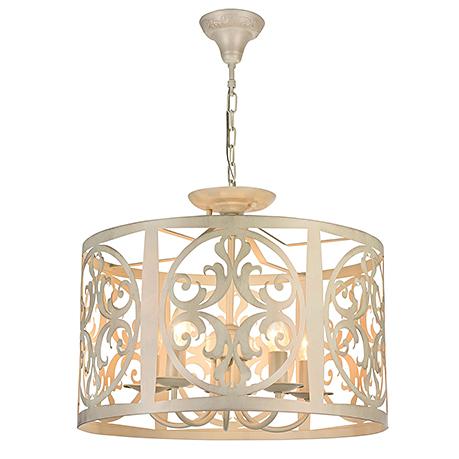 Подвесной абажур из металла на 5 ламп (цвет кремовый)