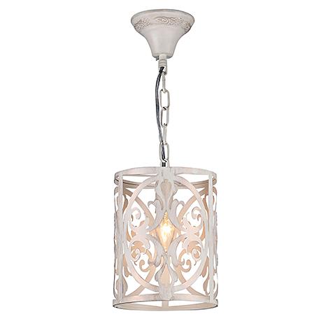 Одиночный подвесной абажур из металла (цвет кремовый)