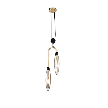 Подвесной светильник в современном стиле (цвет матовое золото)