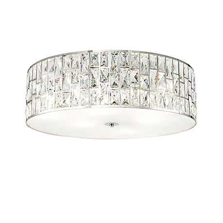 Потолочный светильник с кристаллами (хром)