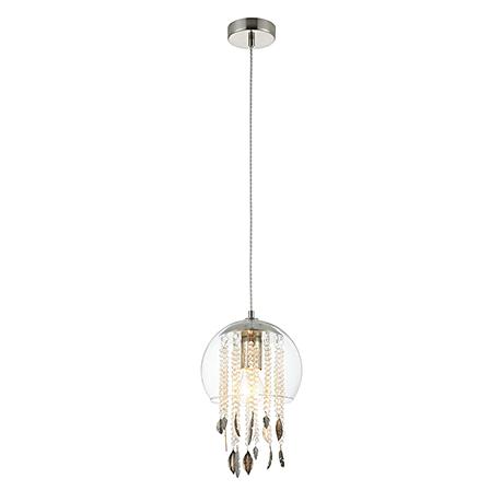 Подвесной светильник в виде стеклянного шара (никель)