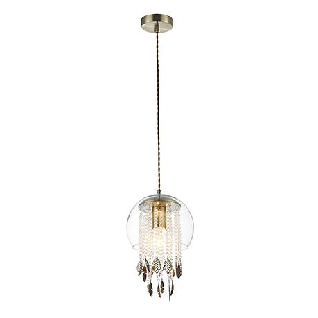 Подвесной светильник в виде стеклянного шара (бронза)