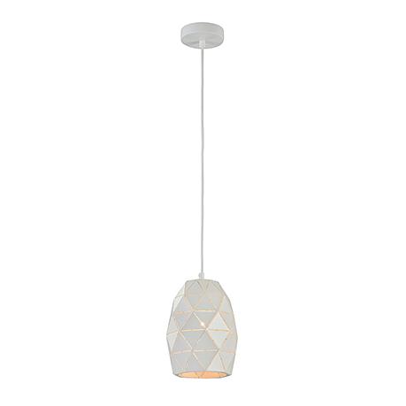 Современный подвесной светильник с гранями (цвет белый)