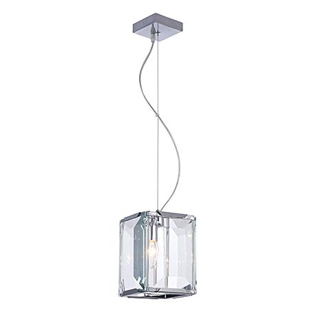 Подвесной светильник с гранеными стеклами (никель)