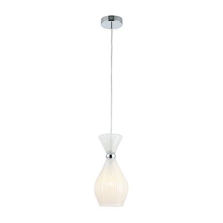 Подвесной светильник из стекла с эффектом заморозки (хром)