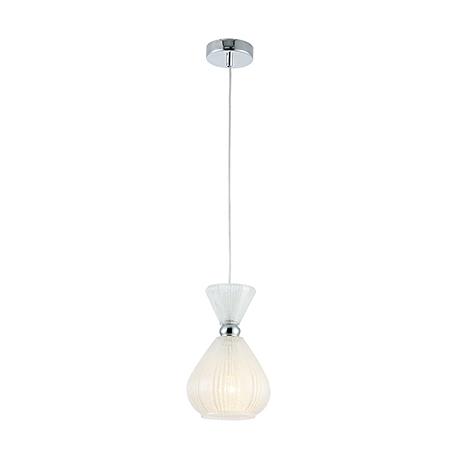 Подвесной светильник из стекла с эффектом мороза (хром)