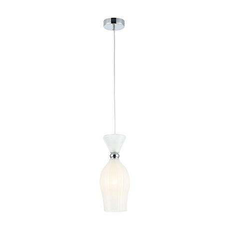 Стеклянный подвесной светильник с эффектом заморозки (хром)