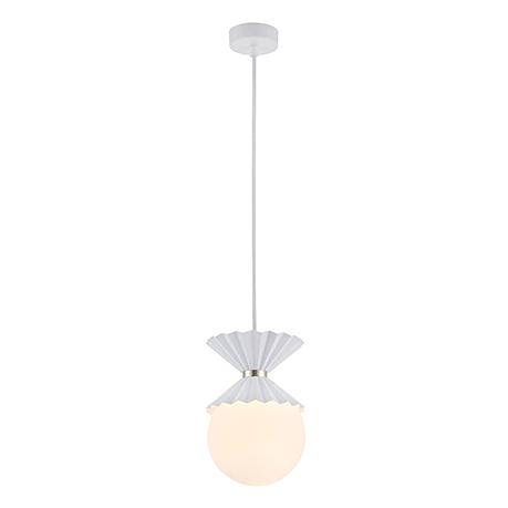 Подвесной светильник в виде белого шара