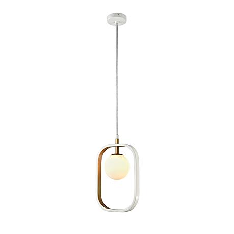 Подвесной светильник плафон в рамке (цвет белый с золотом)