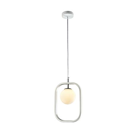 Подвесной светильник плафон в рамке (цвет белый с серебром)