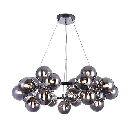 Подвесной обруч с шарами плафонами (хром)