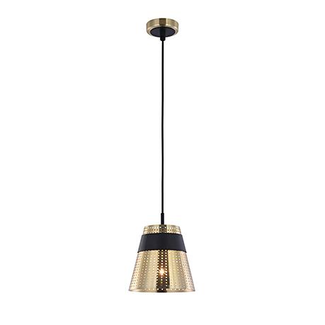 Золотой подвесной плафон с частыми отверстиями (цвет черный)