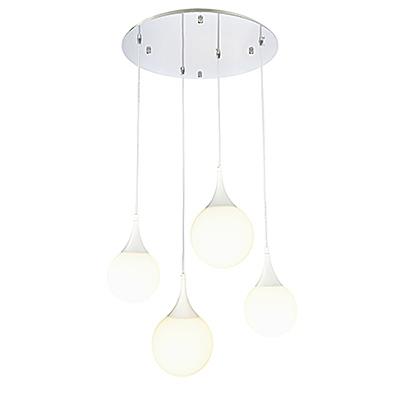 Четыре подвесных светильника шара (цвет белый)