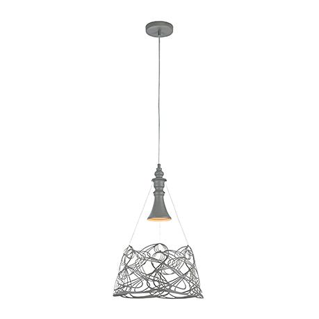 Подвесной светильник одиночный в стиле модерн (цвет серый)
