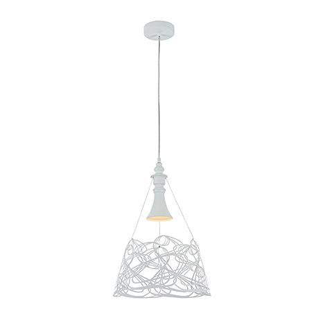 Подвесной светильник одиночный в стиле модерн (цвет белый)