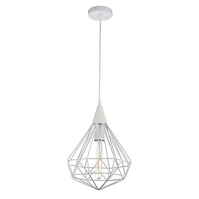 Подвесной светильник из прутков (цвет белый)